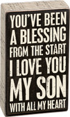 I Love You My Son - Wood Block Sign
