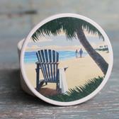 Adirondack Chair & Palm Tree Car Coaster