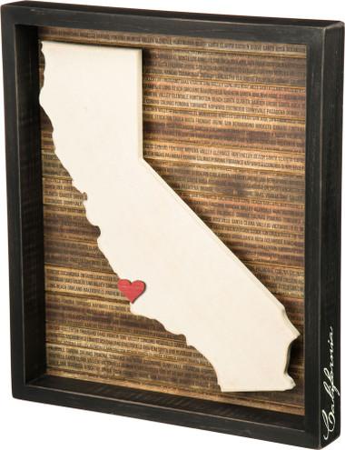 California Shadow Box Sign
