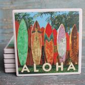 Aloha Surfboard Fence Coaster