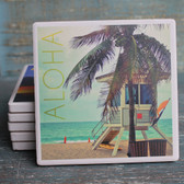 Aloha Lifeguard Shack Coaster