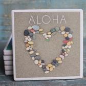 Aloha Stone Heart Coaster