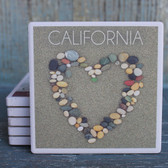 California Stone Heart Coaster