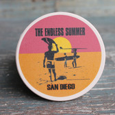 San Diego Endless Summer Poster Car Coaster