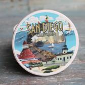 San Diego Montage Car Coaster