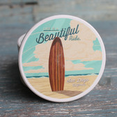 Life is Beautiful Surfboard - Sand Diego Car Coaster