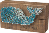 Live Free - Whale String Art