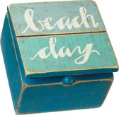 Beach Day Slat Hinged Box