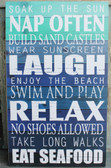 Sun & Rules Wood Sign