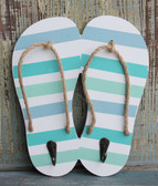 Striped Flip Flop Double Hook