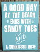 A Good Day at the Beach ends with Sandy Toes and a Sunkissed Nose