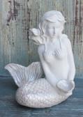 Serene Sitting Mermaid Figure
