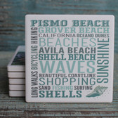 Pismo Beach Typography Coaster