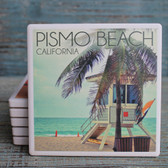 Pismo Beach Lifeguard Shack Coaster