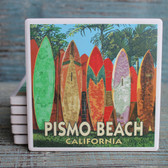 Surfboard Fence Pismo Beach Coaster