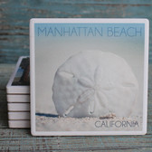 Manhattan Beach Sand Dollar Coaster