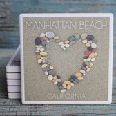 Stone Heart Manhattan Beach Coaster