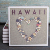 Hawaii Stone Heart Coaster