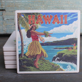 Hawaii Hula Girl coaster