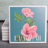 Hawaii Pink Hibiscus Coaster