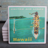 Hawaii Canoe Hawaii Air LInes coaster