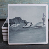 Surfers in Hawaii coaster