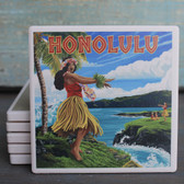 Honolulu Hula Girl coaster