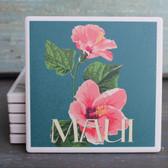 Pink Hibiscus Maui coaster