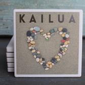 Kailua Stone Heart coaster