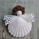 Halo Seashell Angel Ornament