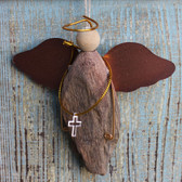 Driftwood Angel with Cross