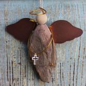 Driftwood Angel with Cross