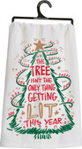 The tree isn't the only thing Getting lit this year. Tea Towel