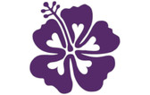 Purple Hibiscus Love Flower Sticker