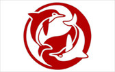 Red Dolphin Ying Yang Sticker