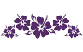 Classic Hibiscus Flowers Strip Sticker