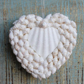 White Shell Heart Ornament