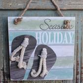 Seaside Holiday Flip Flop Ornament