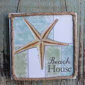 Beach House Starfish Sign Ornament
