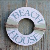 Beach House Life Buoy Ornament
