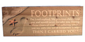 Footprints in the Sand - Made in the USA Sign