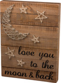 Love You to the Moon & Back String Art