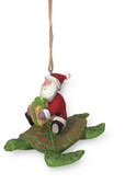 Santa on Sea Turtle Ornament