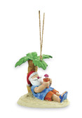 Santa Relaxing Under Palm Tree Ornament
