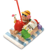 Mr & Mrs Claus at the Beach Ornament
