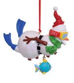 Snorkeling Snowman