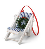 White Beach Chair Ornament