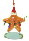 Starfish with Christmas Lights Ornament