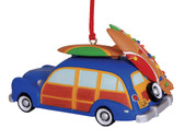 Woody with Surfboards Ornament