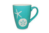 Etched Mug with Starfish and Sand Dollar